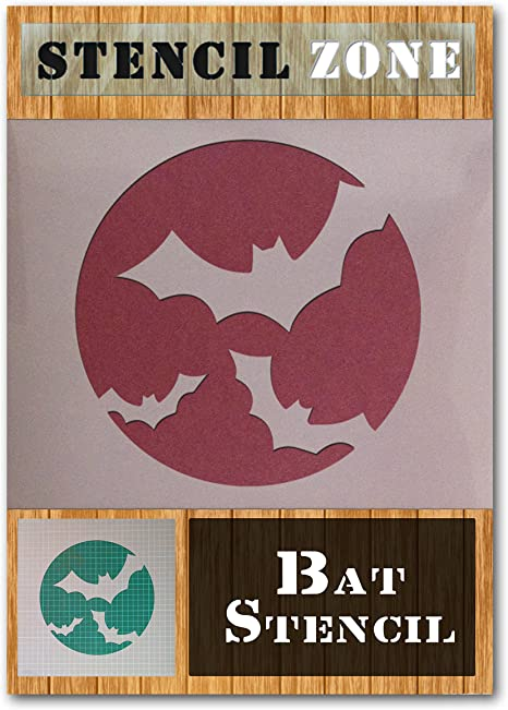 Bat Halloween Mylar Painting Pumpkin Wall Art Stencil three