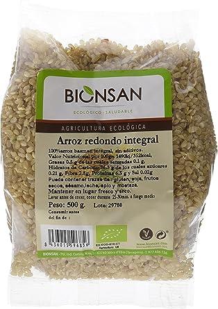 Bionsan Arroz Integral Redondo - 6 Bolsas de 500 gr - Total: 3000 gr
