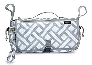 Anvy & Me Stroller Organizer Diaper Bag, Parquet Ways