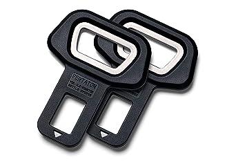 Anti alarma del cinturón de seguridad Pentaton con abrebotellas integrado | Hebilla del cinturón de seguridad | Desactivar la alarma | Negro (2 ...