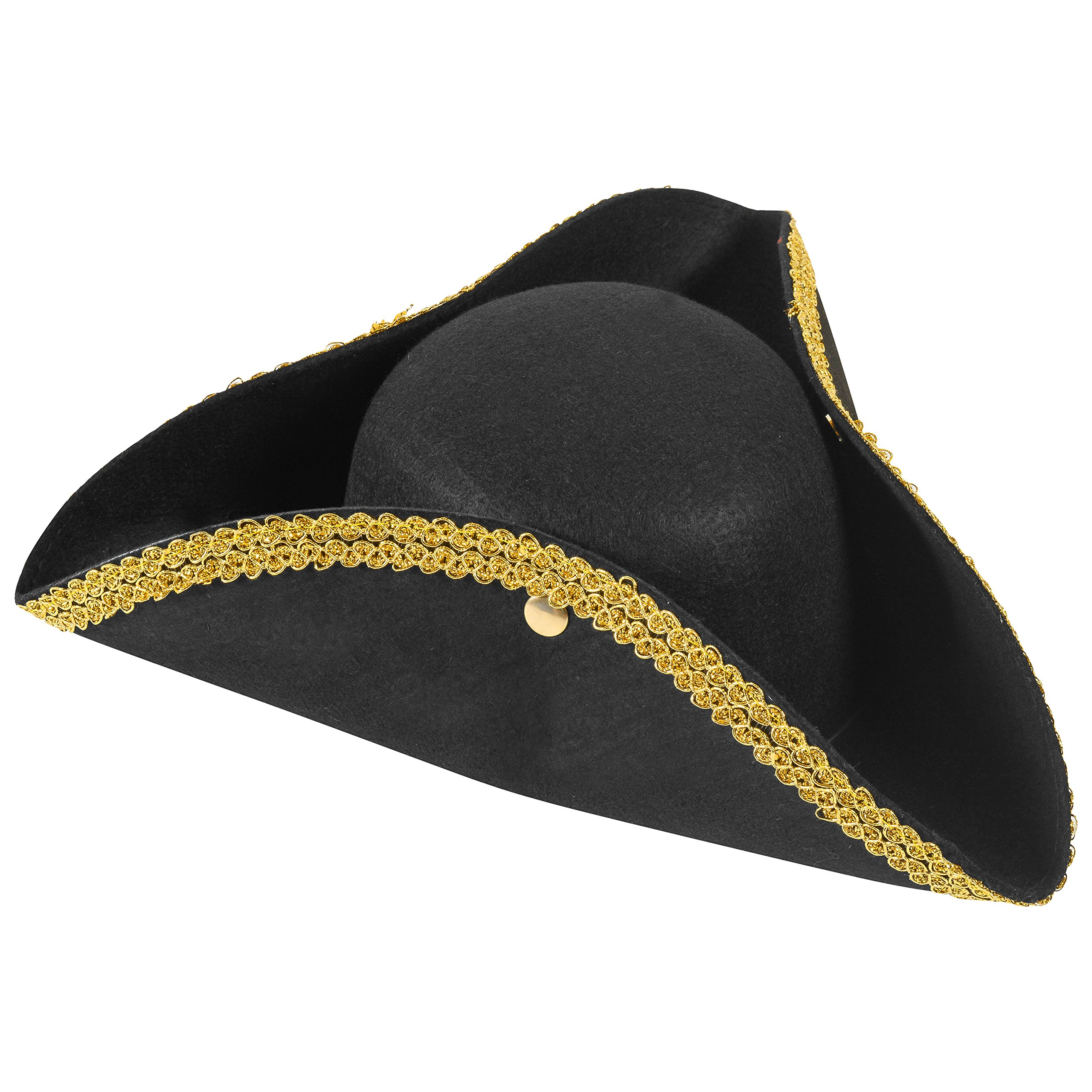 25dab3373eb Funny Party Hats Colonial Style Tricorn Hat - Revolutionary War Deluxe  Colonial Tricorn Hat product image