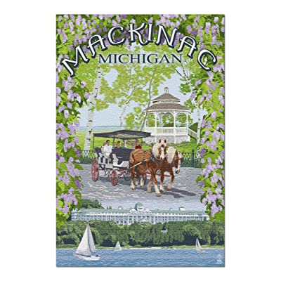 Mackinac, Michigan - Montage Scenes (Premium 1000 Piece Jigsaw Puzzle for Adults, 20x30, Made in USA!): Toys & Games