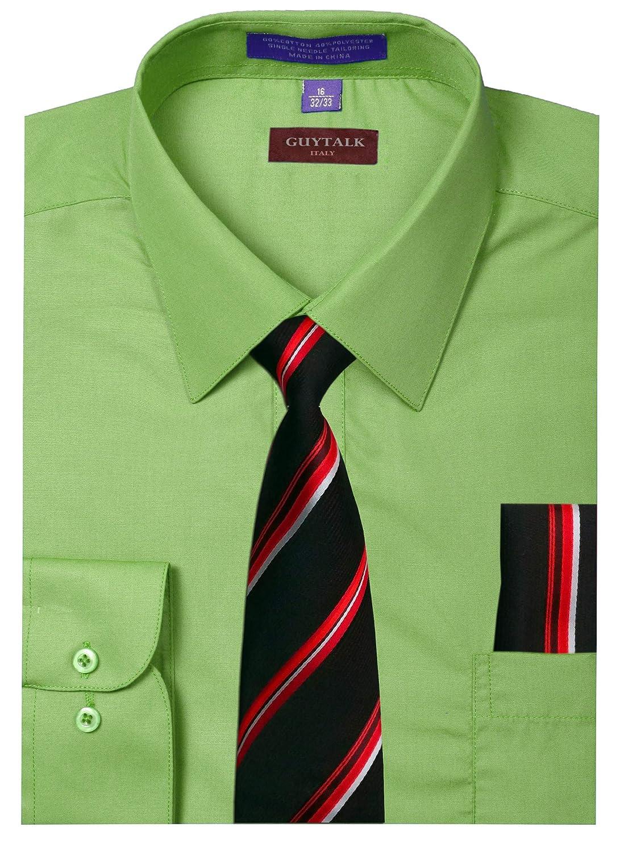 Guytalk Mens Dress Shirt With Matching Tie And Handkerchief30