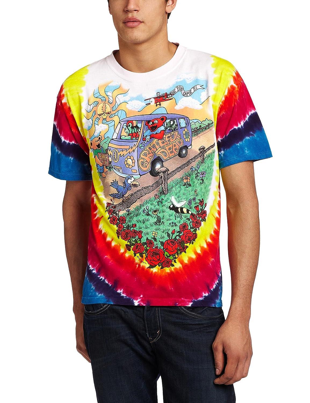Liquid Blue Men's Grateful Dead Summer Tour Bus T-Shirt Liquid Blue Apparel 11381