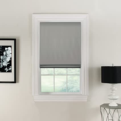 Amazoncom Furniture Fresh Flat Roman Shades Blackout Thermal 26