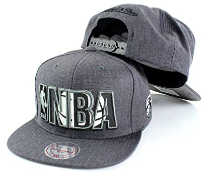 3fc9a31ec5527f Mitchell & Ness NBA Insider Reflective Charcoal Adjustable Snapback Hat (Brooklyn  Nets)