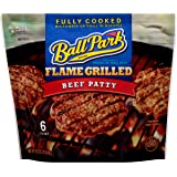 Ball Park Fully Cooked Flame Grilled Beef Patties 6 Count