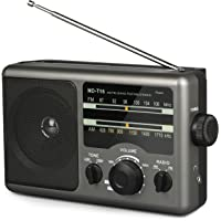 AM FM Portable Radio Battery Operated Radio by 4X D Cell Batteries Or AC Power Transistor Radio with and Big Speaker…