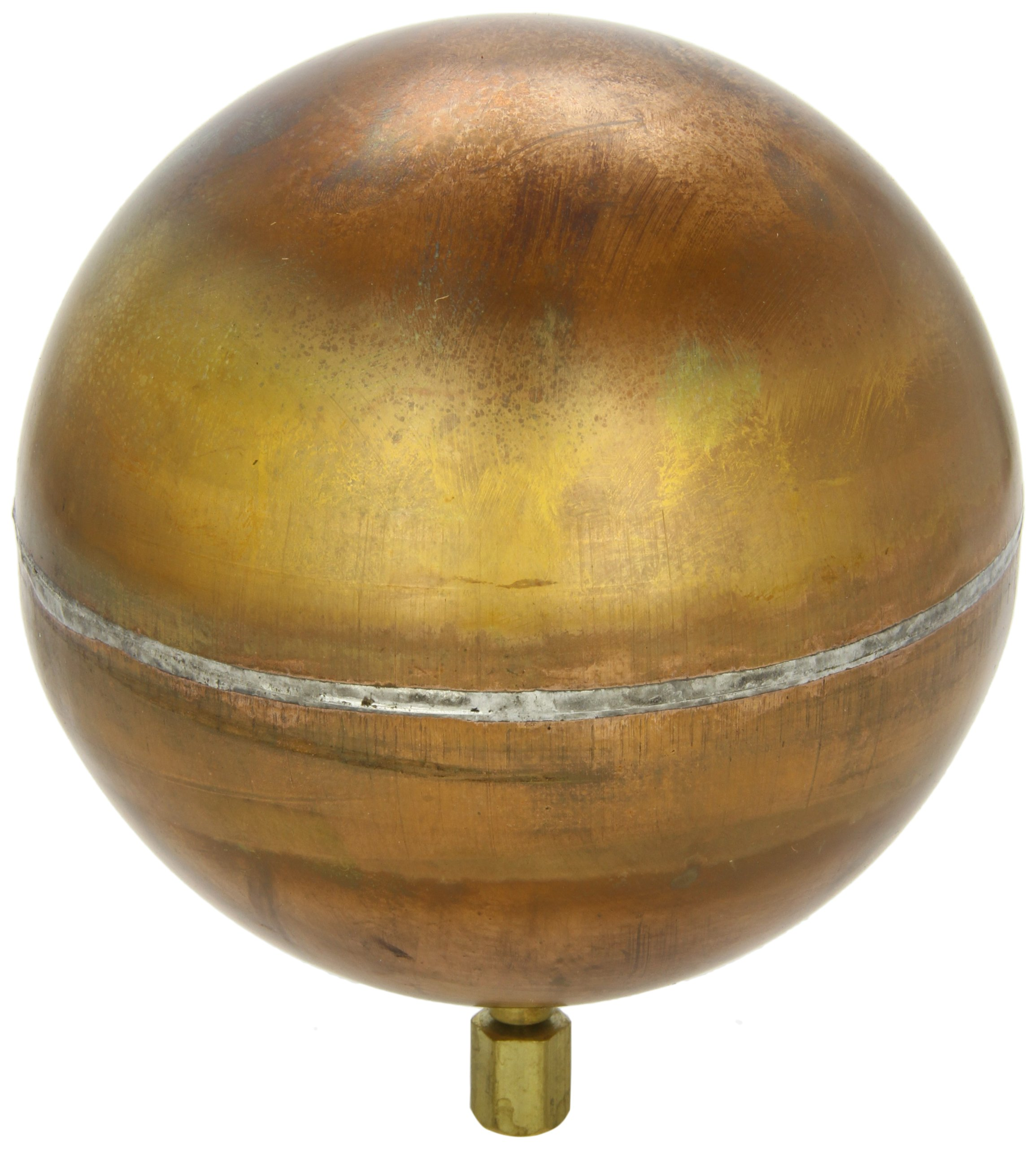 Robert Manufacturing R440 Series Bob Spherical Copper Float, 3/8''-16 SAE Female Spud, 6'' Diameter, 3.26 lbs Buoyancy
