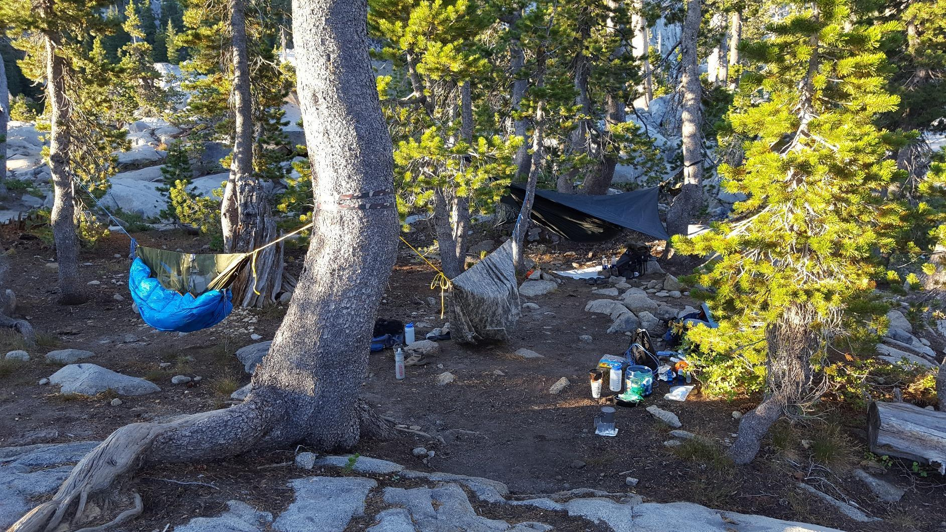 Used the bag as an underquilt during an overnight stay in the high Sierra along the PCT