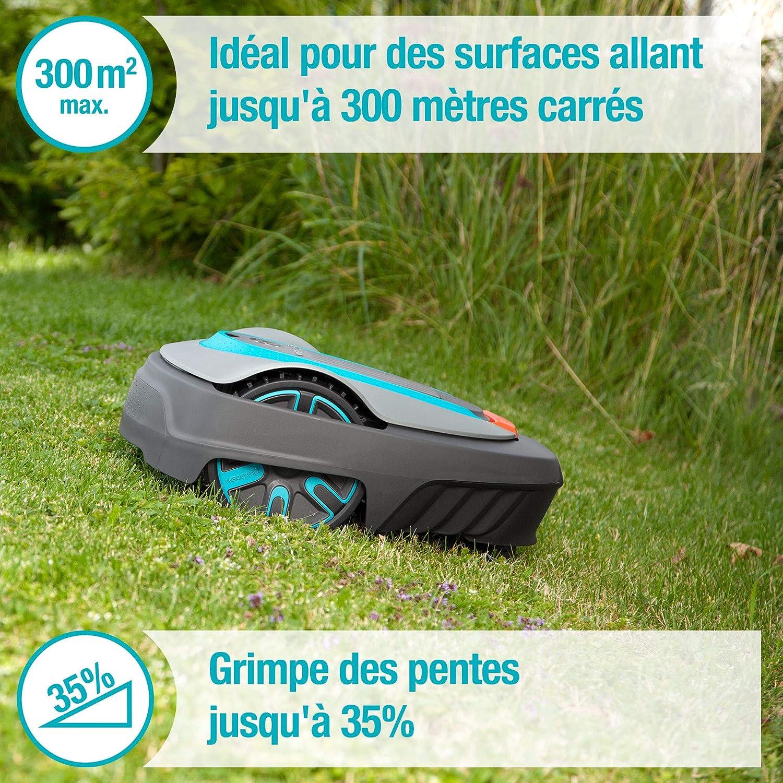 Set GARDENA SILENO city 300 : Robot tondeuse surf. Tonte jusq. 300...