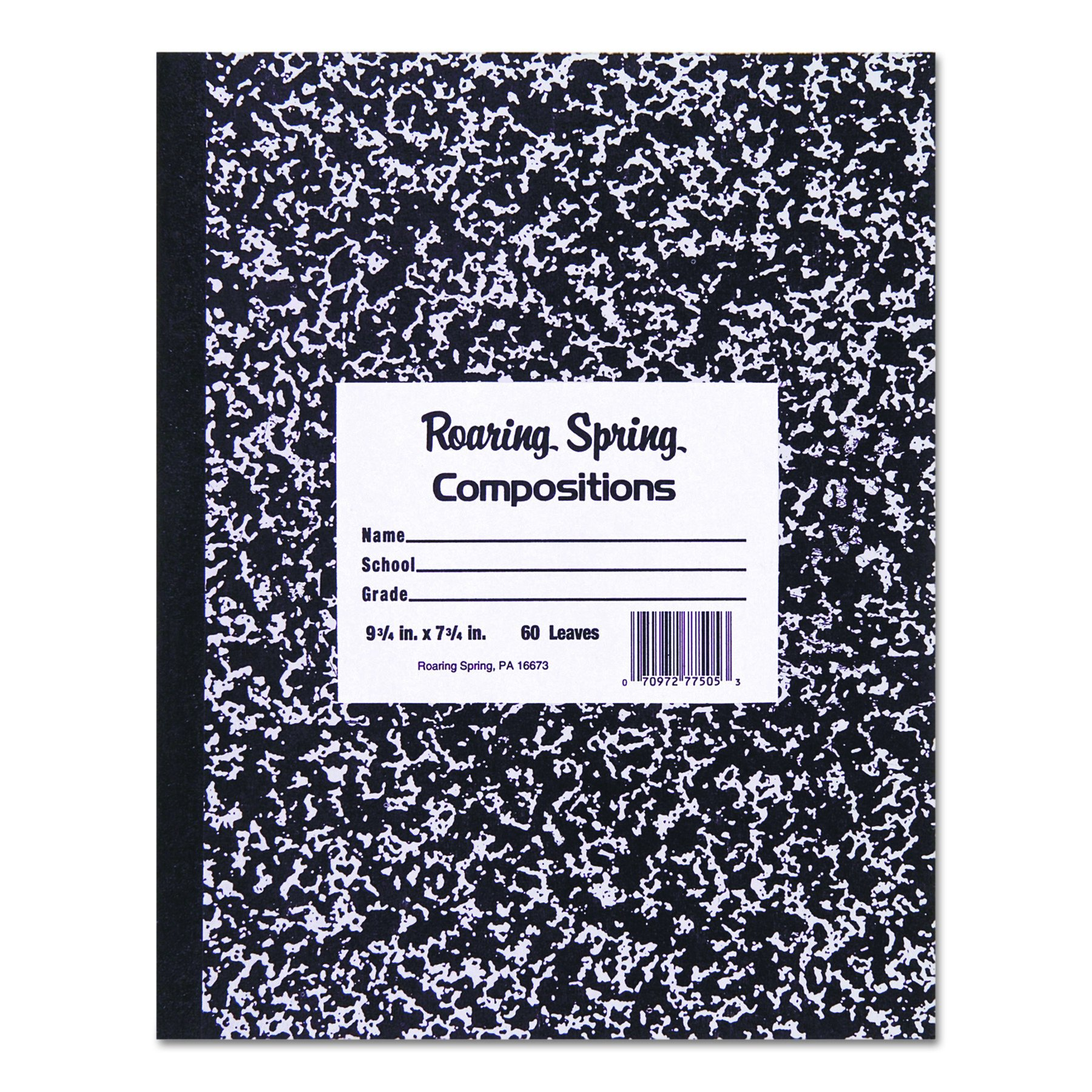 Roaring Spring Flexible Cover Composition Book, 8.5'' x 7'', 48 sheets