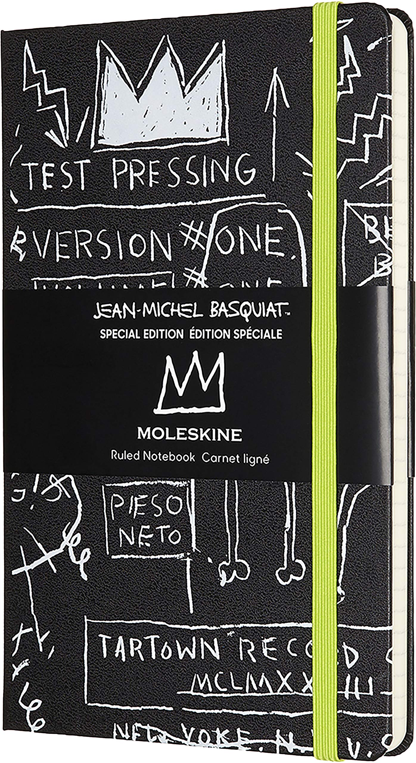 Moleskine Limited Edition Basquiat Notebook, Hard Cover, Large (5'' x 8.25'') Ruled/Lined