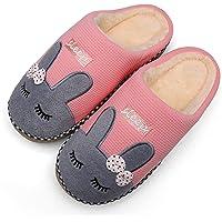 Mishansha Zapatillas De Casa De Mujer Antideslizante CáLido Zapatos Invierno Hombre Pantuflas Cómodas Suave Slippers