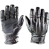 OBRAMO Quarzsand Einsatzhandschuhe Lederhandschuhe schnitthemmend Defender Tactical Dienst Security Polizei Kn/öchelschutz Schlagschutz