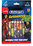 Cello Buttergel Superheroes Gel Pen Set - Pack of 10 (Blue)