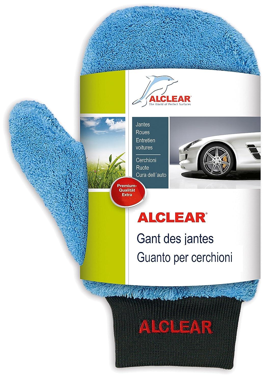ALCLEAR 950013b Guanto in microfibra per pulizia cerchi di alluminio e manutenzione auto, moto bici, 26x12 cm, senza spazzole, per cerchi di alluminio, acciaio, copricerchi ALCLEAR International GmbH