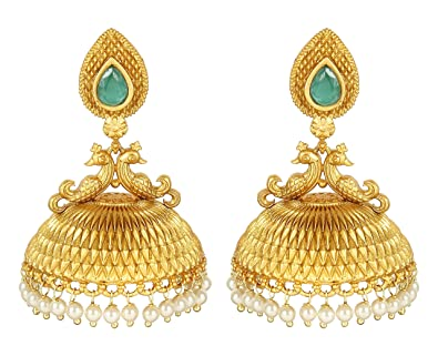 {Special 20% Discount} MuchMore Amazing Style Ruby Pearl Stone Polki Earrings Partywear Jewellery v8223lZ