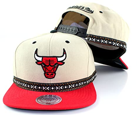 Mitchell   Ness NBA Tribal Band Cotton Adjustable Snapback Hat (Chicago  Bulls) d8afc5177b8