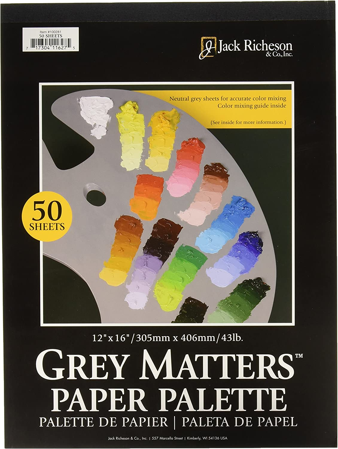 50-Sheet Jack Richeson 9-Inch-by-12-Inch Palette Paper Pad