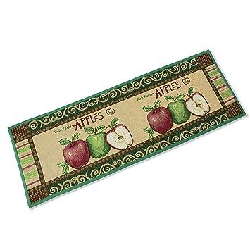 Apple Pattern Kitchen Rugs Non Slip Extra Long Kitchen Mat Doormat Runner  Rug Jacquard Bedroom Carpet