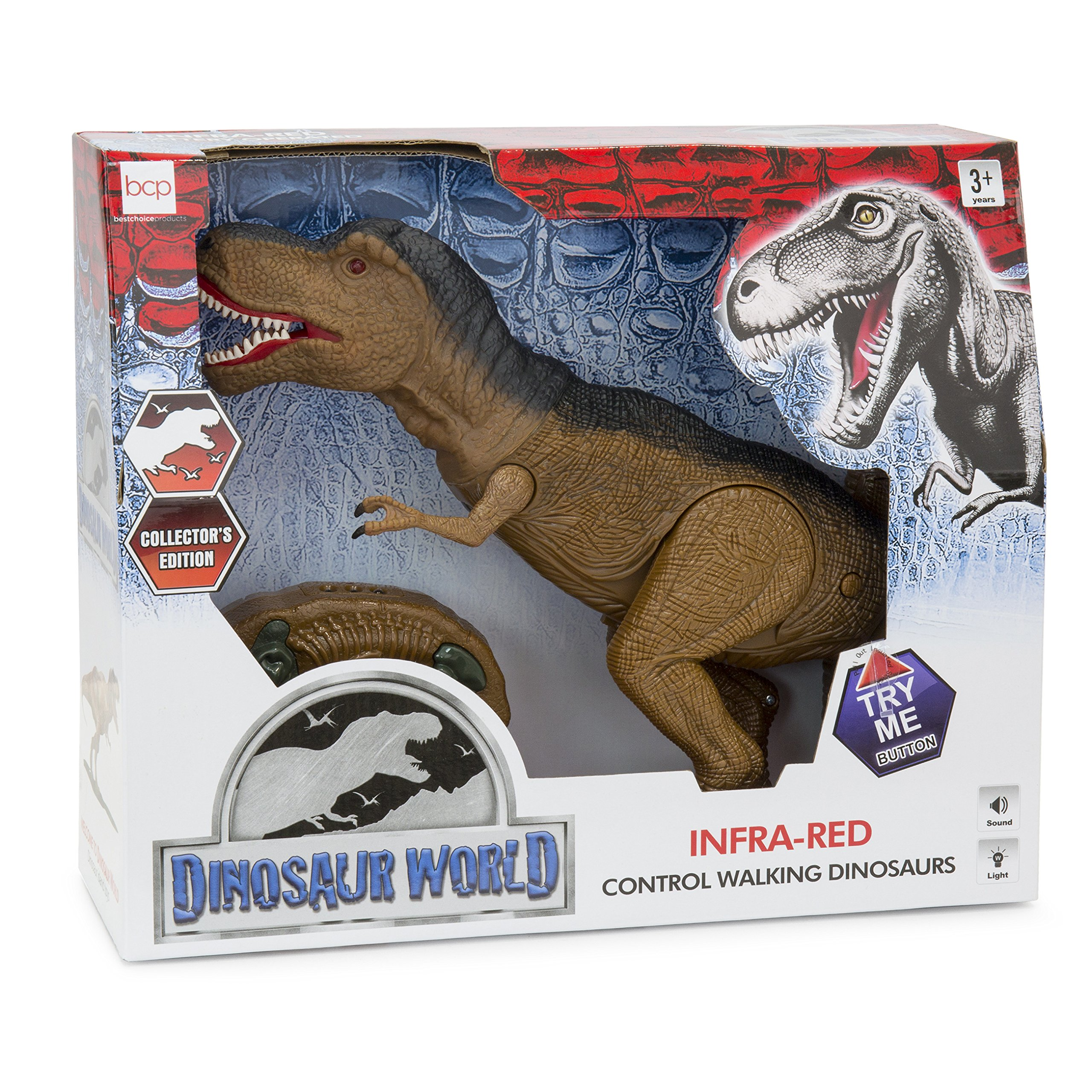 Best Choice Products 19in Kids Walking Remote Control Tyrannosaurus Rex Dinosaur RC Toy w/ Light-Up Eyes, Sounds by Best Choice Products (Image #7)
