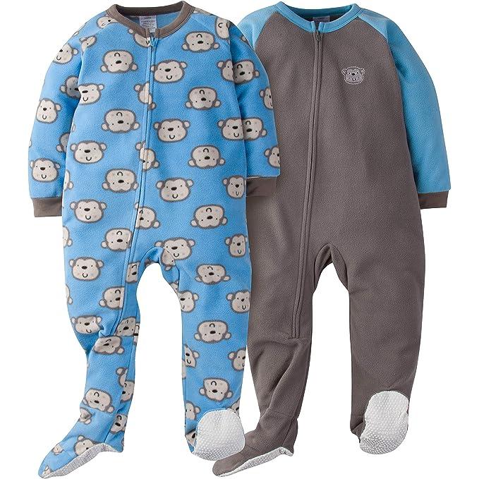 Gerber Boys' 2-Pack Blanket Sleeper, Monkey, 5T