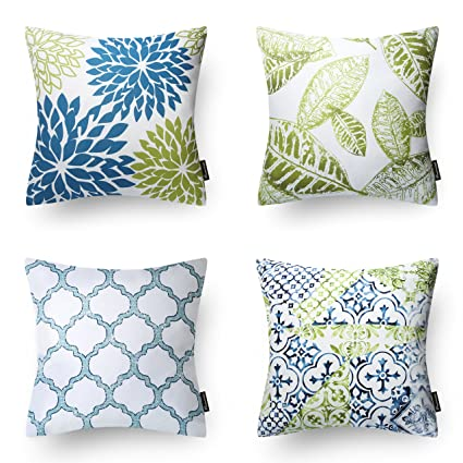 Excellent Phantoscope New Living Bluegreen Decorative Throw Pillow Case Cushion Cover 18 X 18 45 X 45 Cm Set Of 4 Alphanode Cool Chair Designs And Ideas Alphanodeonline