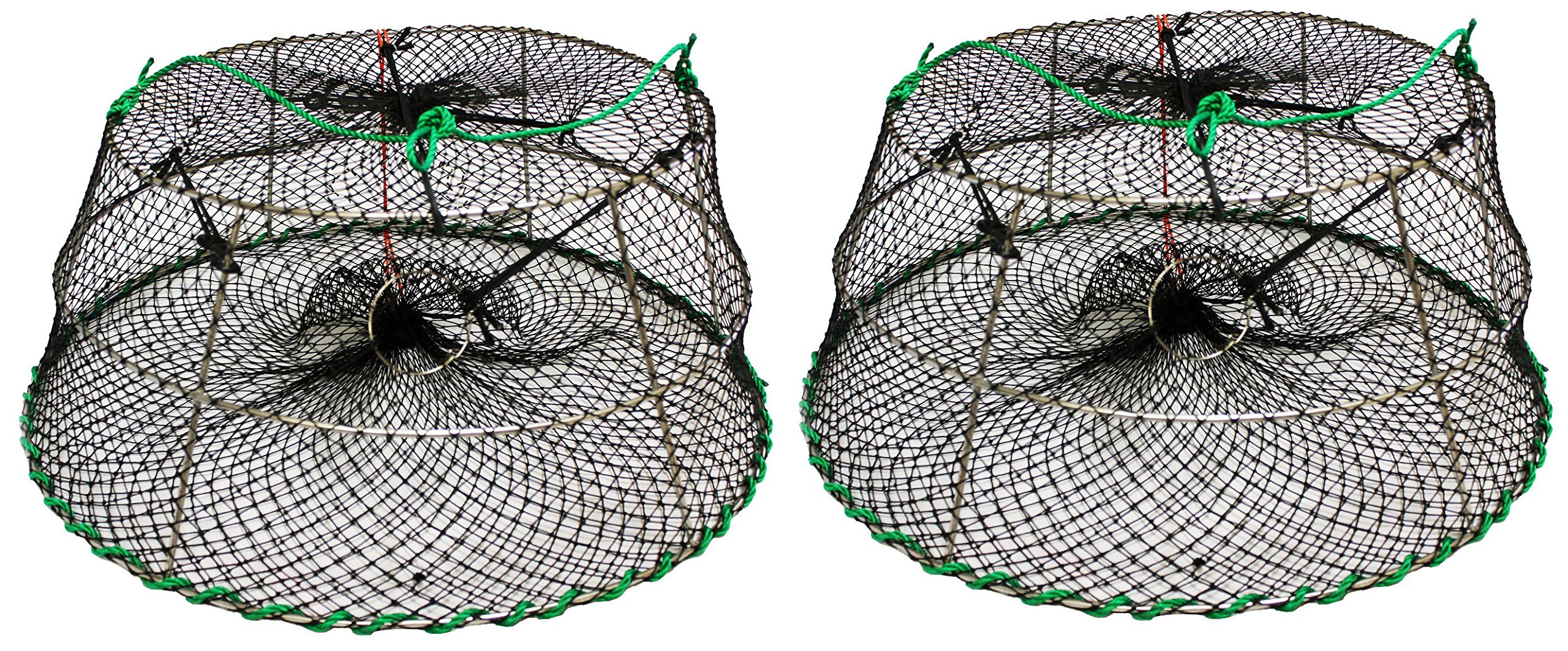2-Pack of KUFA Sports Tower Style Stainless Steel Prawn trap (Trap Size: Ø30''xØ20''x12''; Stretched Mesh size: 1-1/8'') CT76x2