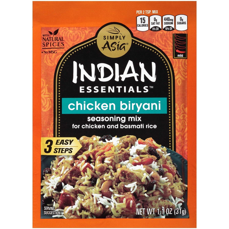 Simply Asia Indian Essentials Chicken Biryani Seasoning Mix, 1.1 oz (Pack of 12)