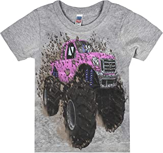 product image for Shirts That Go Little Boys' Pink Monster Truck T-Shirt