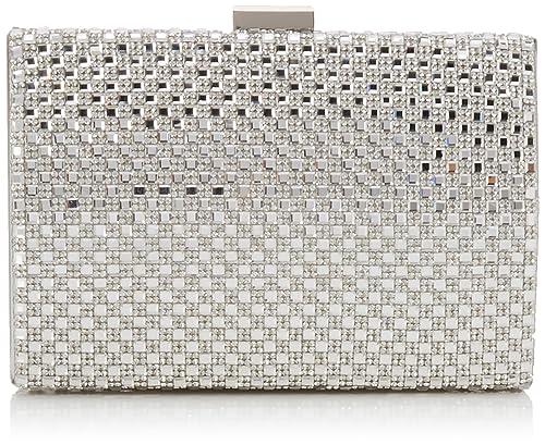 Coast Bags Anaya Mujer Carteras de mano Plateado (Silver) 5.5x10.5x16 cm