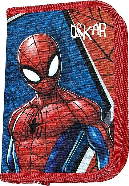 Federm/äppchen Sch/üleretui Federtasche 30-teiliges Set MARKENSTIFTE Motiv Spiderman Personalisieren /& Bedrucken Federmappe mit Namen inkl NAMENSDRUCK