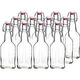 California Home Goods CB-BB-CLR12 16 Ounce Grolsch Bottles, Clear