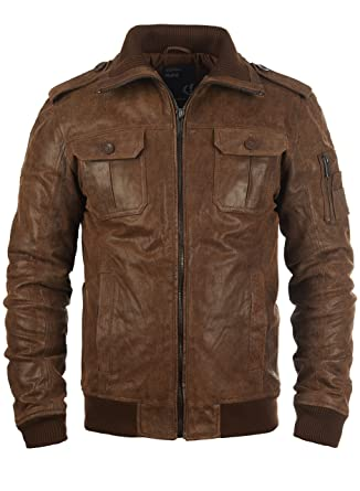 68f15abd60647 SOLID Fash - Veste en cuir véritable - Homme, taille L couleur ...