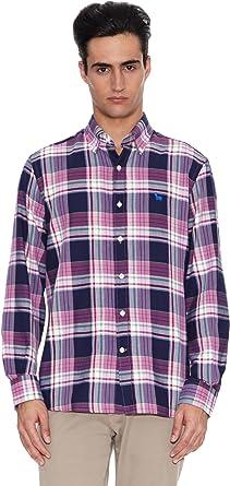 TORO Camisa Manga Larga Jerez de la Frontera Rosa/Azul S: Amazon.es: Ropa y accesorios
