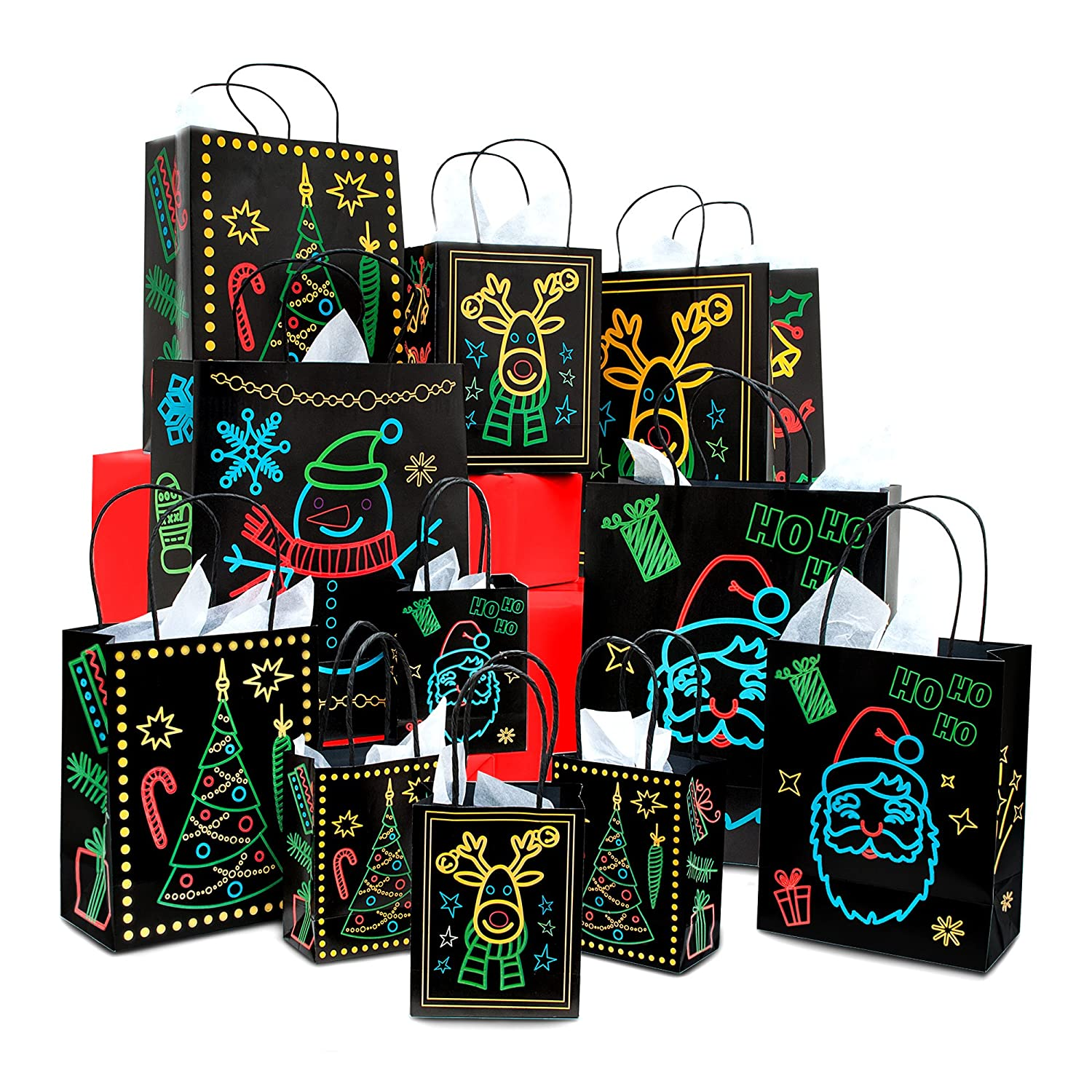 Amazon Christmas Holiday Glow In The Dark Gift Bag