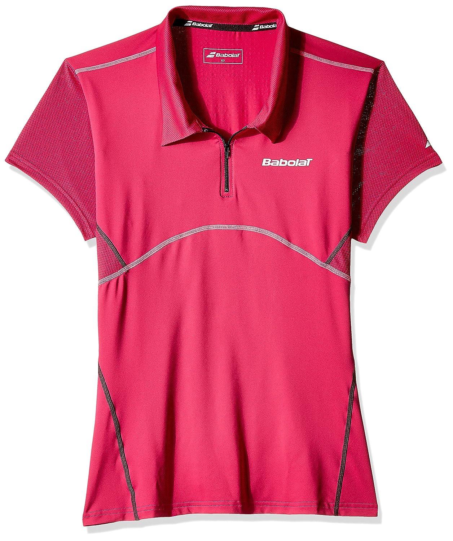バボラレディーステニス一致パフォーマンス半袖ポロシャツトップ B00SG74V6I ピンク X-Small