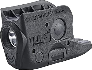 Streamlight 69280 TLR-6 Tactical Pistol Mount Flashlight 100 Lumen Without Laser Designed Exclusively and Solely For Glock 42 & 43, Black
