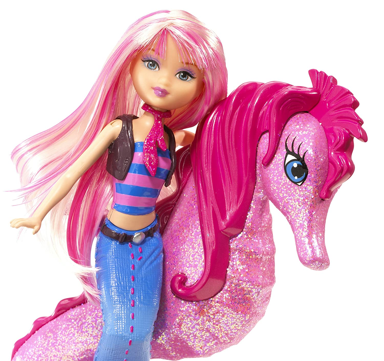 Uncategorized Barbie Mermaid Pictures amazon com barbie in a mermaid tale seahorse stylist doll pink toys games