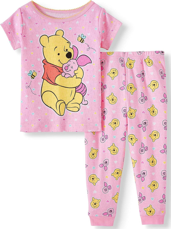2pc Set 12 Months Pink Winnie The Pooh Cotton Toddler Girls Pajamas