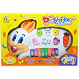 Swag Market Stylish Rabbit Musical Piano for Kids With 3 Modes Animal Sounds, Flashing Lights & Wonderful Music