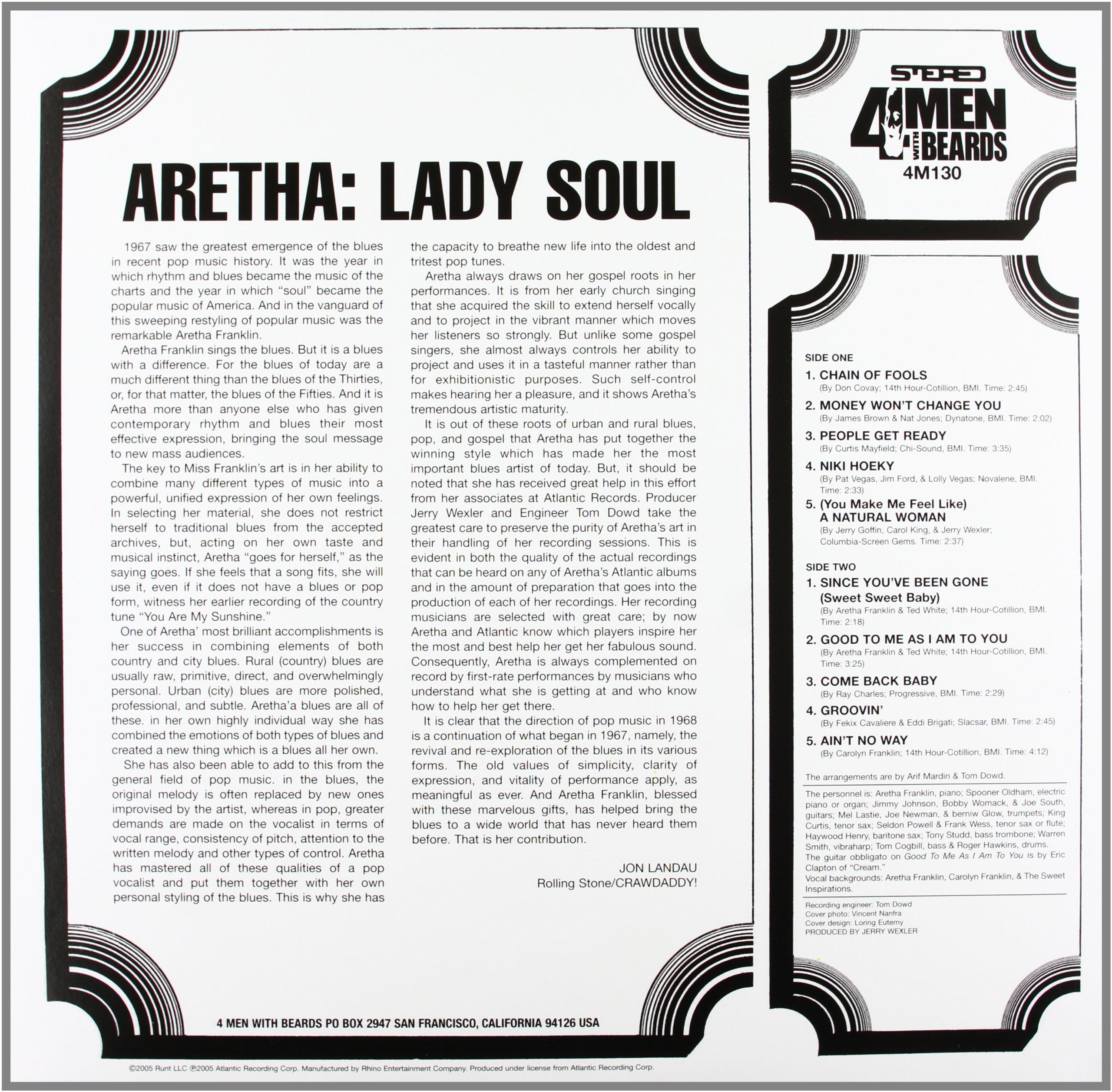 Lady Soul (180 Gram Vinyl) by 4 Men With Beards