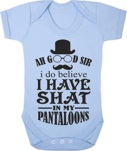 """Baby Romper /""""Ah good sir I do believe I have shat in my pantaloons/"""" Sleep Suit"""