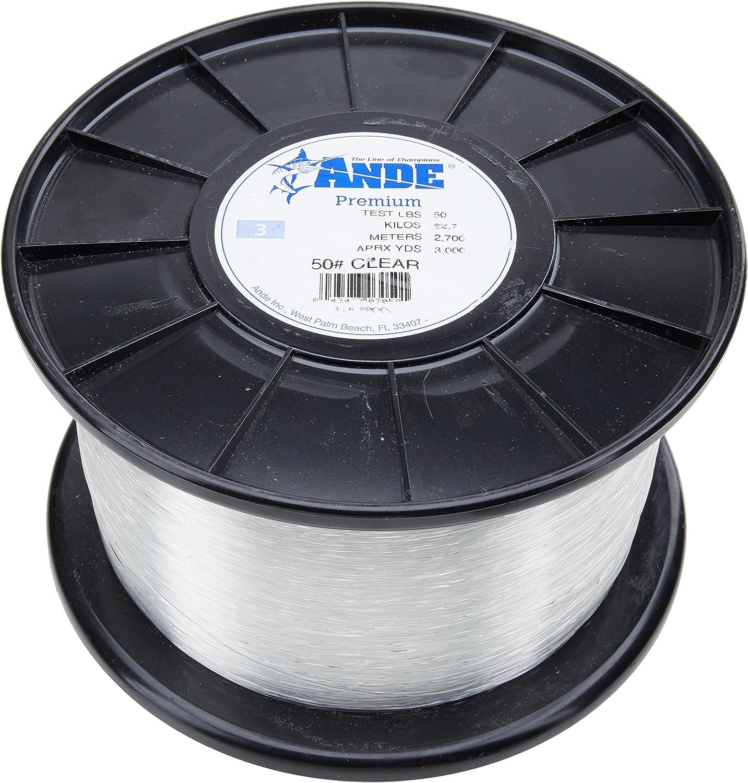 Ande A14-30C Premium Mono Line 1//4Lb Spool 30Lb 400Yds Clear