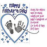 BabyRice Make your Own Father's Day Card using YOUR Baby's Hand and Footprints Inkless Wipe Kit