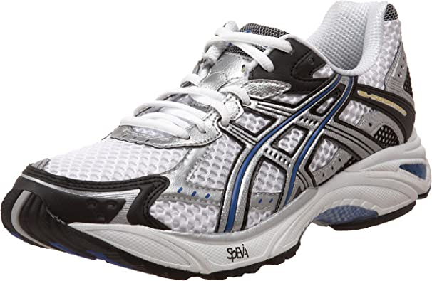 Artículos de primera necesidad audible Lluvioso  Amazon.com | ASICS Men's GEL-Foundation 9 Running Shoe,  White/Lightning/Royal, 12.5 4E US | Road Running