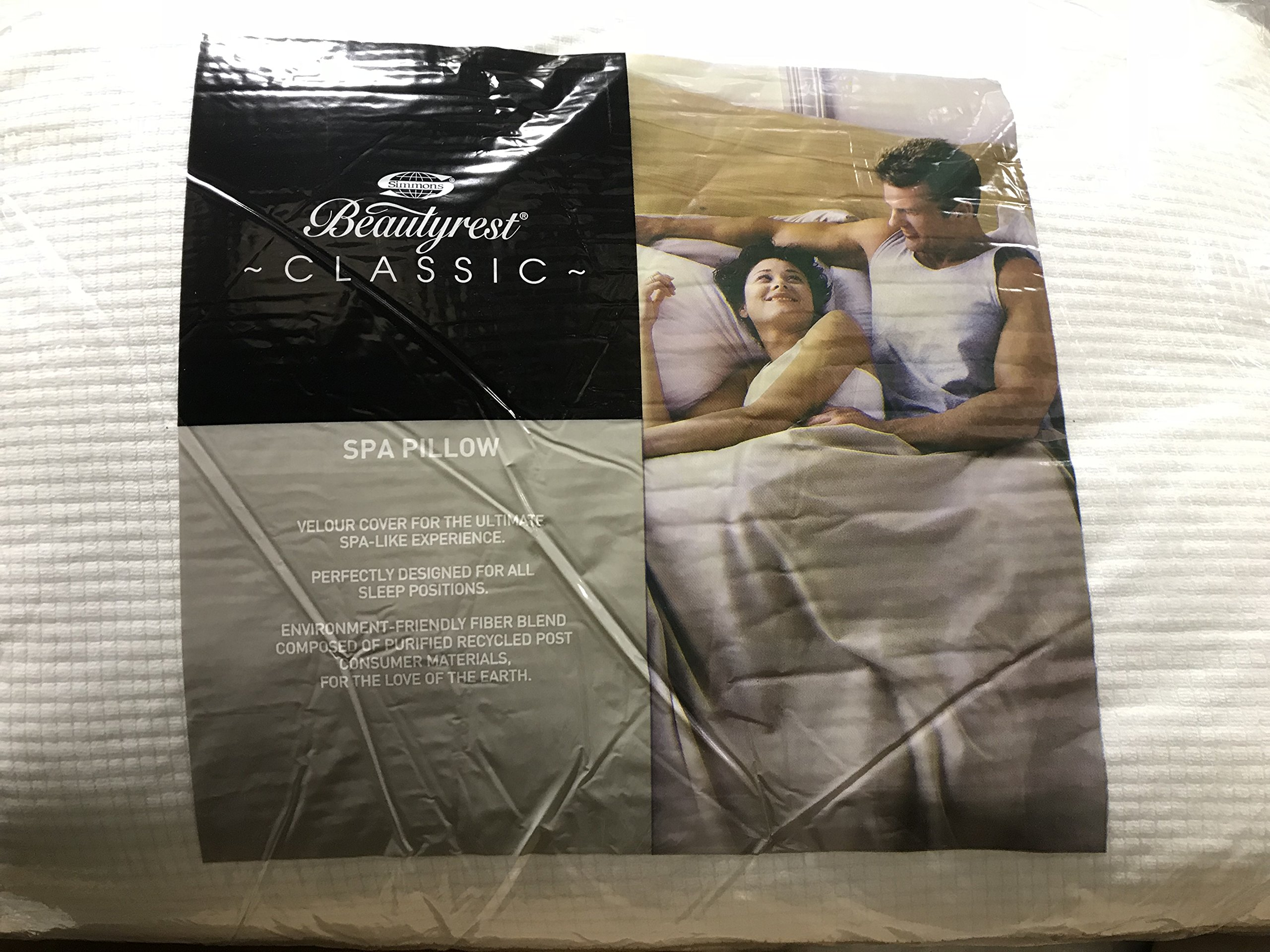 Beautyrest Classic Spa Pillow, Jumbo/Queen