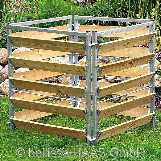 bellissa 99150 - Compostador (madera y metal, 100 x 100 x 100 cm ...