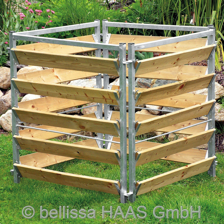 Komposter Holz / Metall L.100xB.100xH.100 cm 99150 bellissa